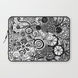 Growth in 3 Directions - Black and White Laptop Sleeve