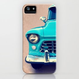 Aqua Chevy iPhone Case