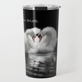 Wildlife Swans in love Travel Mug