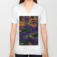 pandas V-neck T-shirts featuring acid pandas by stoneRage