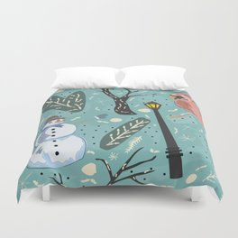 Design Inspired By Magical Times of Winter, the Time of True Peace, Joy and Happiness Duvet Cover
