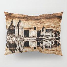 Liverpool Water front Skyline (Digital Art) Pillow Sham