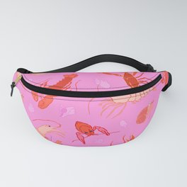 Dance of the Crustaceans in Conch Pink Fanny Pack