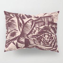Burgundy in Rose Gold Pillow Sham