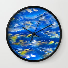 CLOUDS ABSTRACT Wall Clock