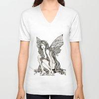 flight V-neck T-shirts featuring flight by manje