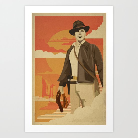 The Archeologist Art Print