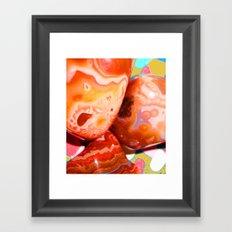 Shiny Agates Framed Art Print