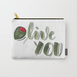 Olive you hand lettered food pun Carry-All Pouch