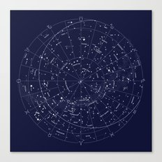 Constellation Map Indigo Canvas Print