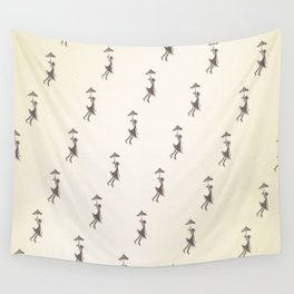 Umbrella Girl - Hand drawn design Wall Tapestry