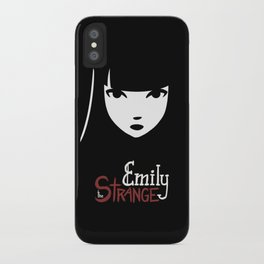 Emily the Strange: Emily's face iPhone Case