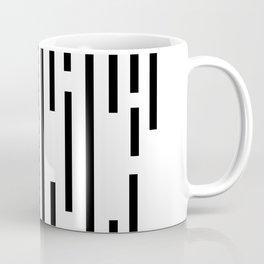 Minimal Lines - Black Coffee Mug