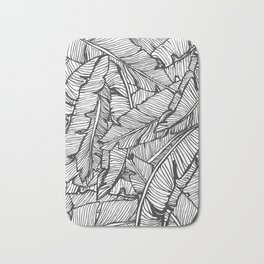 Black & White Jungle #society6 #decor #buyart Bath Mat