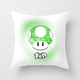 1-UP from Mario Throw Pillow