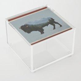 Wyoming Bison Flag Acrylic Box