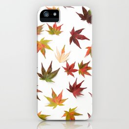 AUTUMN LEAVES PATTERN #1 #decor #art #society6 iPhone Case