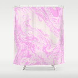 Akiko - spilled ink art print monoprint handmade japanese paper marble paper texture pattern map Shower Curtain
