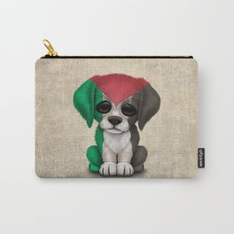 Cute Puppy Dog with flag of Palestine Carry-All Pouch
