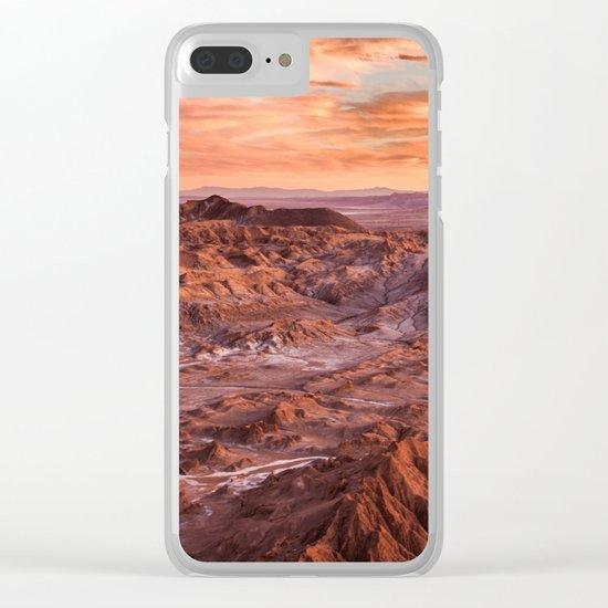 Desert orange Clear iPhone Case