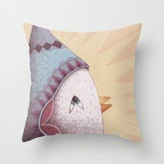 Drummer Bird Surprise Throw Pillow