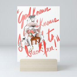 The Bride. txt Mini Art Print