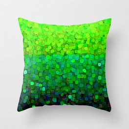 Glitter Sparkles Green Throw Pillow