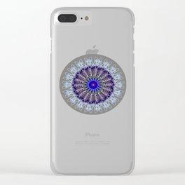 Mandala #102, Taupe Clear iPhone Case