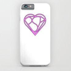 Psy Z Heart, Mind + Shield, in Pink iPhone 6s Slim Case
