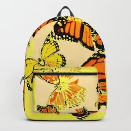 SOFT YELLOW & ORANGE MONARCH BUTTERFLIES MELANGE Backpack