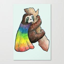 the gay hero sloth Canvas Print