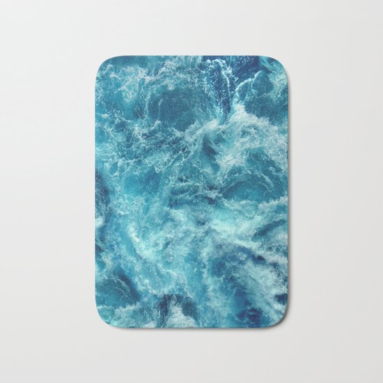 Ocean is shaking Bath Mat