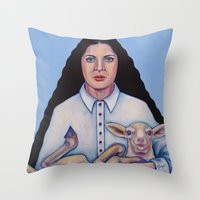marina Throw Pillows featuring Marina by Kristina Gufo