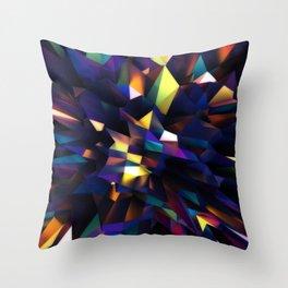 Low Iris Poly Throw Pillow