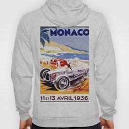 Vintage 1936 Monaco Grand Prix Racing Wall Art Hoody