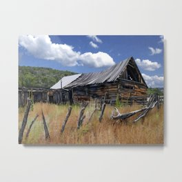 Old Barn, Trampas, New Mexico Metal Print