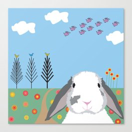 Jokke, The Rabbit Canvas Print