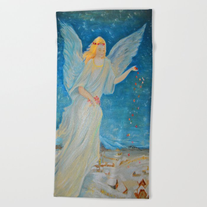 Bless Me Guardian Angels Are Here Angel Of Abundance Love Beach Towel By Azima Society6