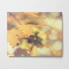 Autumns Yellow Metal Print