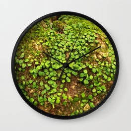 Moss is slow life Wall Clock