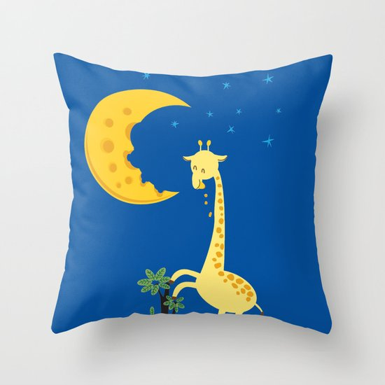 The Delicious Moon Cheese Throw Pillow
