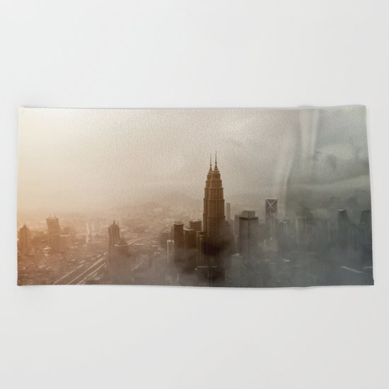 Foggy City Beach Towel