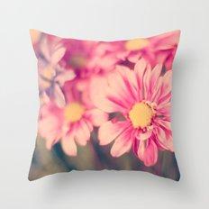 Pink Retro  Throw Pillow