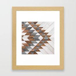 Urban Tribal Pattern No.12 - Aztec - Wood Framed Art Print