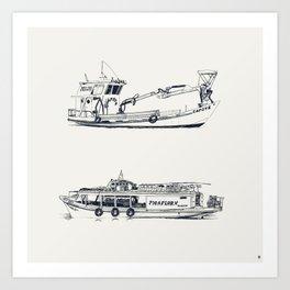 On paper: Capote y Picaflor Art Print