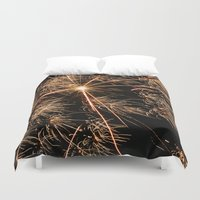 fireworks Duvet Covers featuring Fireworks by Marta Bocos
