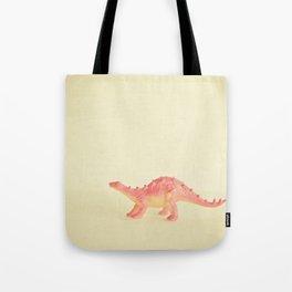 Pink Dinosaur Tote Bag