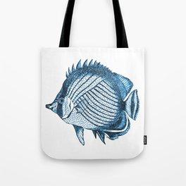 Fish coastal ocean blue watercolor Tote Bag