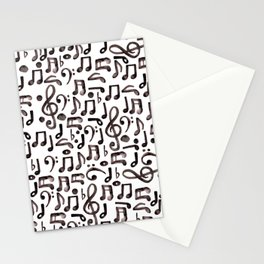 Watercolor Music Notes Stationery Cards