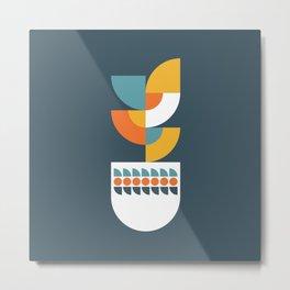 Geometric Plant 02 Metal Print